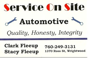 Service on Site Automotive - Wrightwood CA