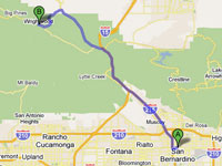 Wrightwood CA Directions from the Inland Empire