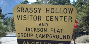 Grassy Hollow Visitor Center in Wrightwood, CA