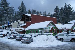 Snow on Local Businesses in Wrightwood CA.
