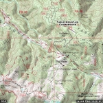 Table Mountain Campground Area Map - Wrightwood CA Camping