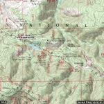 Map of Mountain Oak Campground - Wrightwood CA