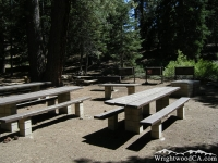 Campsite in Jackson Flat Group Campground - Wrightwood CA Camping