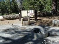 Message Board in Jackson Flat Group Campground - Wrightwood CA Camping