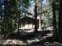 Restrooms in Jackson Flat Group Campground - Wrightwood CA Camping