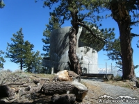Lookout tower in Jackson Flat Group Campground - Wrightwood CA Camping