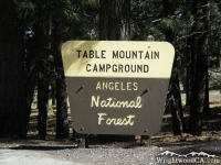 Table Mountain Campground - Wrightwood CA Camping