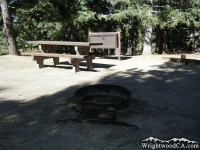 Campsite at Table Mountain Campground