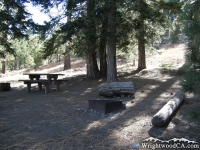 Campsite at Table Mountain Campground - Wrightwood CA Camping