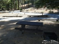 Picnic Table at Table Mountain Campground - Wrightwood CA Camping
