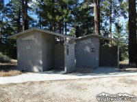 Restrooms at Table Mountain Campground - Wrightwood CA Camping