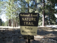 Table Mountain Nature Trail toward entrance of Table Mountain Campground - Wrightwood CA Camping