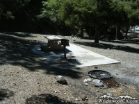 Campsite in Apple Tree Campground - Wrightwood CA Camping