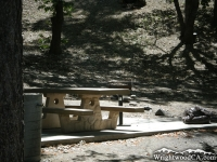 Campsite in Peavine Campground - Wrightwood CA Camping