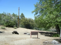 Campsite at Lake Campground near Jackson Lake - Wrightwood CA Camping