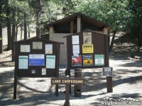 Message Board in Lake Campground - Wrightwood CA Camping