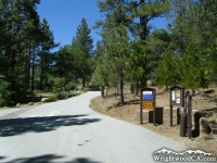 Entrance to Mountain Oak Campground near Jackson Lake - Wrightwood CA Camping