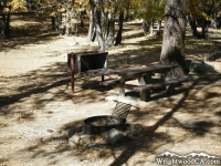 Campsite in Mountain Oak Campground near Jackson Lake - Wrightwood CA Camping