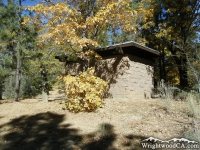 Restrooms in Mountain Oak Campground - Wrightwood CA Camping