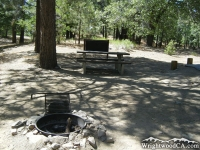 Campsite in Mountain Oak Campground  - Wrightwood CA Camping