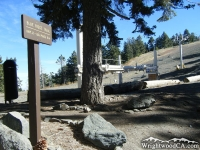 Blue Ridge Trail head and Chair Lift at Mt High East, Blue Ridge Campground - Wrightwood CA Camping