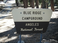 Blue Ridge Campground - Wrightwood CA Camping