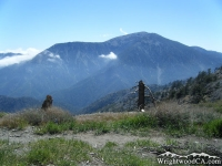 Pacific Crest Trail (PCT) in front of Mt Baden Powell near Blue Ridge Campground - Wrightwood CA Camping