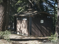 Restrooms in Guffy Campground - Wrightwood CA Camping