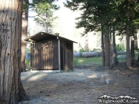Restrooms in Lupine Campground - Wrightwood CA Camping
