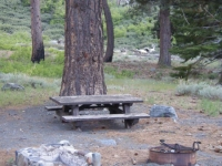 Campsite in Lupine Campground - Wrightwood CA Camping