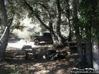 Campsite in Cabin Flat Campground in Prairie Fork - Wrightwood CA Camping