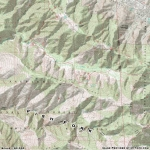 Topographic Map of Fish Fork - Wrightwood CA