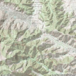 Map of Slover Canyon - Wrightwood CA