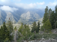 Looking down at Prairie Fork from Pine Mountain Ridge - Wrightwood CA