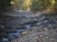 River washed out the road into Prairie Fork, just above Lupine Campground - Wrightwood CA