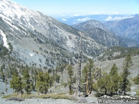Looking down Fish Fork from the North Backbone Trail - Wrightwood CA