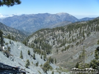Fish Fork (left) and Pine Mountain Ridge (right) with Mt Baden Powell in the background - Wrightwood CA