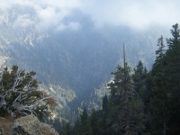 Clouds coming in over Fish Fork - Wrightwood CA