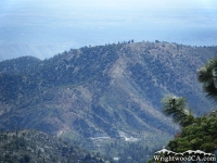 Looking at Circle Mountain from the top of Slover Canyon - Wrightwood CA