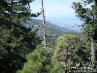 Looking down toward Jackson Lake from Table Mountain - Wrightwood CA