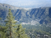 Looking down at Swarthout Valley and the town of Wrightwood from Blue Ridge - Wrightwood CA