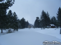Swarthout Valley with snow - Wrightwood CA