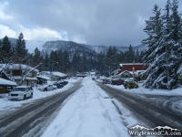 Town of Wrightwood in Swarthout Valley after winter storm - Wrightwood CA