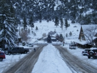 Town of Wrightwood (Swarthout Valley) in winter - Wrightwood CA