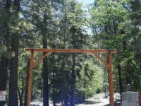 End of private road on Acorn Drive in Acorn Canyon - Wrightwood CA