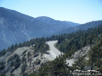 Highway 2 toward Vincent Gap as viewed from Lightning Ridge Trail - Wrightwood CA