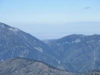 Vincent Gap (top center) below Mt Baden Powell (upper left) as viewed from North Backbone Trail - Wrightwood CA