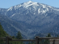 Pine Mountain and Prairie Fork as viewed from Vincent Gap parking lot - Wrightwood CA
