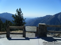 Looking down the San Gabriel River Basin (East Fork) from Inspiration Point - Wrightwood CA