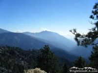San Gabriel River Basin with Pine Mountain Ridge and Iron Mountain in background - Wrightwood CA